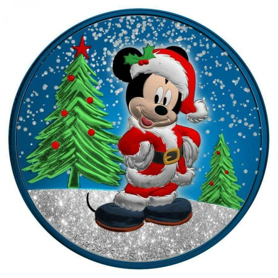 Mickey Christmas Blue