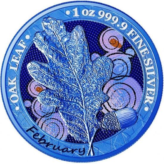 Oak Leaf - 12 Months Series - February