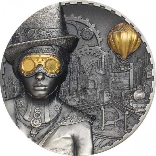 Cook Islands 2020 20$ Steampunk 3 Oz Antique 999 Silver Coin