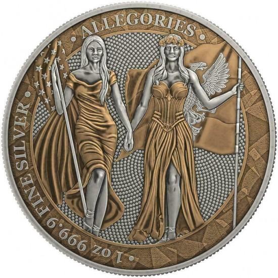 Germania 2019 5 Mark Columbia Antique And Copper 1 Oz 999 Silver Coin