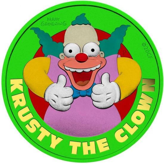 Tuvalu 2020 1$ The Clown Krusty Space Green 1 Oz 999 Silver Coin