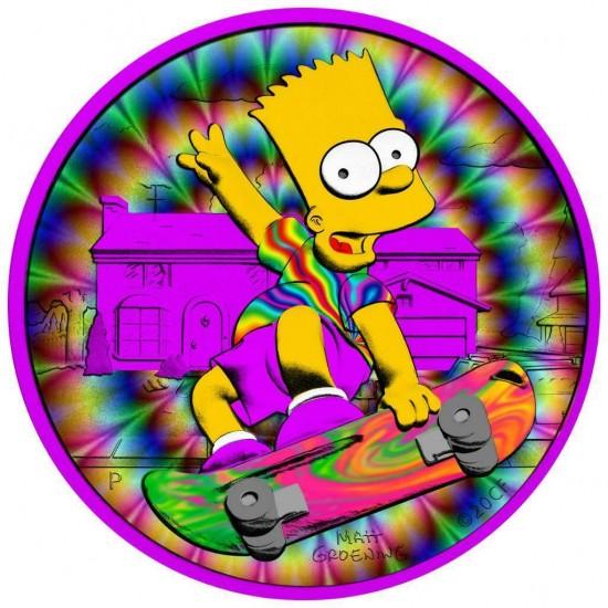 Tuvalu 2020 1$ Bart Simpson Trip 1 Oz 999 Silver Coin