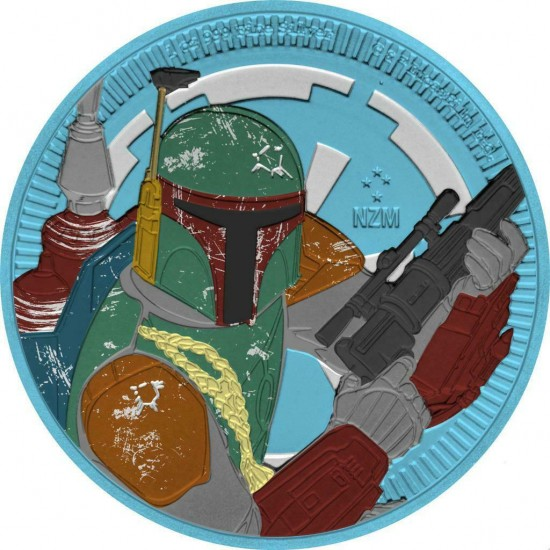 Niue 2020 $2 Star Wars Boba Fett 1 Oz 999 Silver Coin