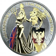 Germania Britannia Ruthenium, Gilded & Color