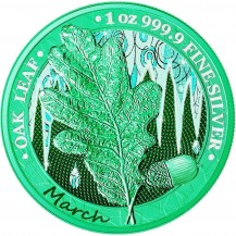 Oak Leaf - 12 Months Series - March