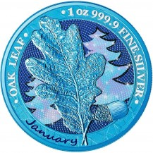 Oak Leaf - 12 Months Series - January