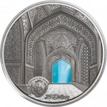 Palau 2020 25$ Tiffany Art Isfahan Black Proof 5 Oz 999 Silver Coin