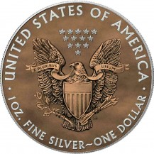 USA 2020 1$ Liberty Space Colour Edition Paint It Brown 1 Oz 999 Silver Coin