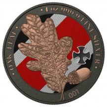 Germania 2019 5 Mark Oak Leaf Iron Cross 1 Oz 999 Silver Coin