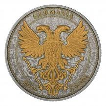 Germania 2019 5 Mark Oak Leaf Gold Cross 1 Oz 999 Silver Coin