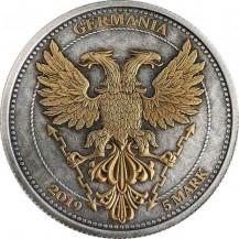 Germania 2019 5 Mark Oak Leaf Funky Holo 1 Oz 999 Silver Coin