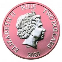 Niue 2020 $2 Disney Mickey And Pluto Ice Cream 1 Oz 999 Silver Coin
