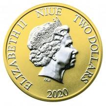 Niue 2020 $2 Disney Mickey And Pluto Ballons 1 Oz 999 Silver Coin