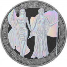 Germania 2019 5 Mark Columbia Antique And Pearl Holo 1 Oz 999 Silver Coin