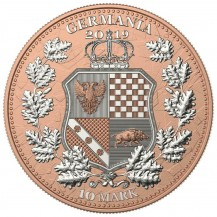 Germania 2019 10 Mark The Allegories Britannia Gilded Pink 2 Oz 999 Silver Coin