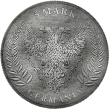 Germania 2020 5 Mark Antique And Color 1 Oz 999 Silver Coin Only 100 pcs