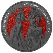 Germania 2019 10 Mark The Allegories Britannia Ruthenium Red 2 Oz 999 Silver Coin