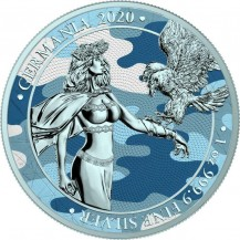 Germania 2020 5 Mark Camouflage Edition New Swabia 1 Oz 999 Silver Coin
