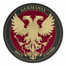 Germania 2019 5 Mark Bejeweled Oak Leaf Black 1 Oz 999 Silver Coin
