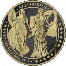 Germania 2019 5 Mark Columbia Varnish Gilded 1 Oz 999 Silver Coin