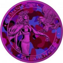 Germania 2020 5 Mark Camouflage Edition Aida 1 Oz 999 Silver Coin