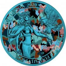 Germania 2020 5 Mark Camouflage Edition Balkan 1 Oz 999 Silver Coin