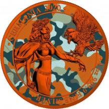 Germania 2020 5 Mark Camouflage Edition Bukovina 1 Oz 999 Silver Coin