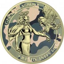 Germania 2020 5 Mark Camouflage Edition Camelia 1 Oz 999 Silver Coin