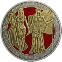 Germania 2019 5 Mark Columbia Antique Gold 1 Oz 999 Silver Coin