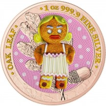 Germania 2019 5 Mark Bejeweled Gingerbread Angry Mommy 1 Oz Silver Coin