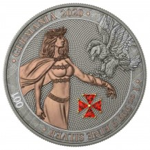 Germania 2020 5 Mark Red Crystal Cross 1 Oz 999 Silver Coin