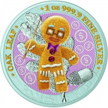 Germania 2019 5 Mark Bejeweled Gingerbread Director 1 Oz 999 Silver Coin