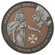 Germania 2020 5 Mark White Crystal Cross 1 Oz 999 Silver Coin