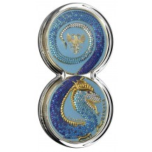 Germania 2020 2 Silver coins x 5 Mark Fafnir Set Crystals 2 x 1 Oz Only 100 pcs