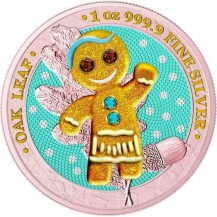 Germania 2019 5 Mark Bejeweled Gingerbread Girl 1 Oz Silver Coin